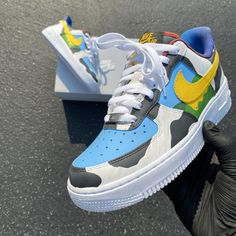 Nike Af1, Nike Huarache, Cow Hide, Ben And Jerrys Ice Cream, Nike Air Force, I Shop, Sneakers Nike, Hand Painted, Street