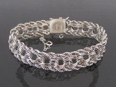 Antique Vintage Sterling Silver Link Chain by wandajewelry2013