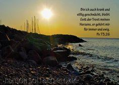 christliche Postkarte 51 - Psalm 73, Gute Besserung, Krankheit, Trost - Bibel a la Carte - Christliche Karten