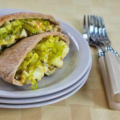 Sandwich oeuf dijon olive verte Oignon vert Laitue