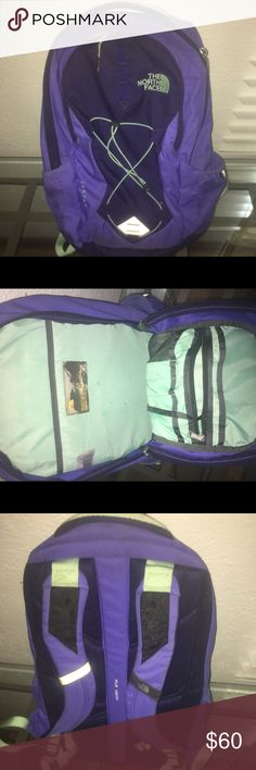 Purple north face backpack Purple north face back pack great condition North Face Bags Backpacks