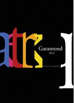 garamond type face poster
