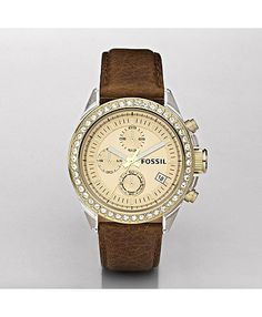 this fossil watch is colour perfect. brown and gold are my favourites. i just wish it were daintier.
