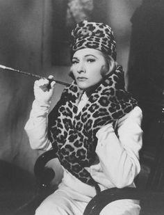 Joan Fontaine #vintage #leopard #smoke