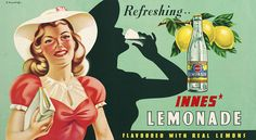 Innes Lemonade by Artist Unknown at Image Vault - prints Vintage Ephemera, Vintage Ads, Little Shop Of Horrors, House In The Woods, Pin Up Girls, Lemonade, New Zealand, Disney Characters, Fictional Characters