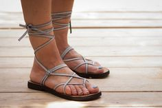 Hey, I found this really awesome Etsy listing at https://www.etsy.com/listing/193463009/grey-leather-women-sandals-gladiator
