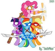 Teenage Mutant Ninja Turtles / My Little Ponies Friendship is Magic