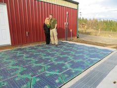 There is now a working concept of a solar panel-paved road..