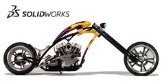 Shop all SOLIDWORKS software solutions to learn more about each product and choose the best software packages for you or your team's engineering goals. Chopper Motorcycle, Bobber Chopper, Motorcycle Design, Mechanical Engineering Design, Mechanical Design, Bike Art, Biker Style, Street Bikes, Custom Motorcycles