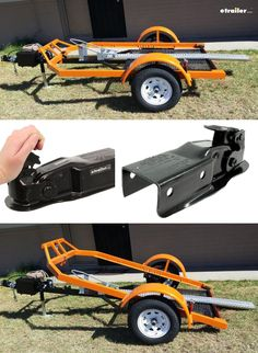 Building a custom trailer? We got your parts. Check out this custom motorcycle trailer, built with the Atwood Channel tongue trailer coupler. It pulls and handles like a dream.