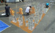 Lego 3D painting
