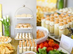 'Carolina Barbecue' party - grey & yellow, gorgeous food, by Annie's Eats for her daughter Caroline