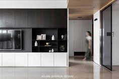 Shelving Design, Tv Wall Design, House Design, Interior Modern, Interior Design Living Room, Living Room Designs, Tv Feature Wall, Living Room Cabinets, Living Room Inspiration