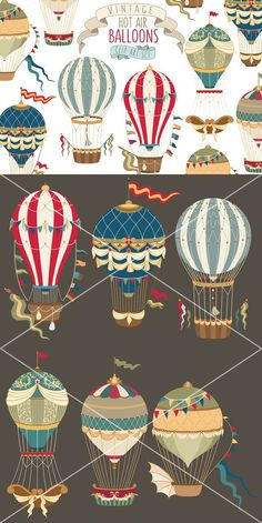 Vintage Hot Air Balloon Collection