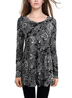 4ec83e28b4f BaiShengGT Women's Flared Comfy Loose Fit Tunic Top at Amazon Women's  Clothing store: