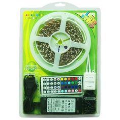 Tira de #LED RGB, fuente y controlador con mando - 6W/m - 5M - RG $78.70