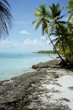"""Onotoa Island in the Republic of Kiribati - the view from my """"back yard"""""""