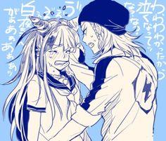 Ibuki Mioda and Souda Kazuichi【Dangan Ronpa】