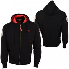 This is the Polar Zip Hoody by Alpha Industries. Here in a black colorway 28ca21a1bf3c