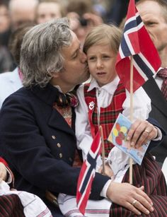 Ari Behn and his daughter Leah Isadora in Southwark Park for the celebrations of the 2013 Norway National Day in London