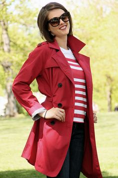 "Love her adorable red trench from ""Targét""; What I Wore: Little Red via whatiwore.tumblr.com by What I Wore Jessica, via Flickr"