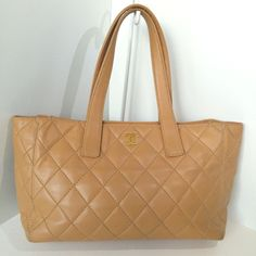 Chanel-Caviar-Leather-Quilted-Tote-Bag-Camel-free-shipping-large 1