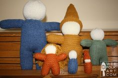Basic Knit Doll in 6 Sizes | Wee Folk Art