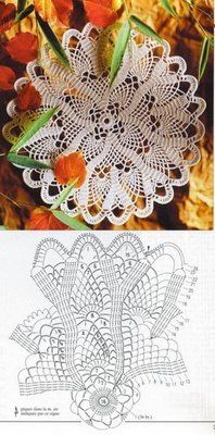 Square Doily #13 with diagram