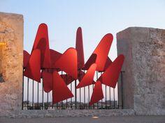 Installation, Antibes Juan-les-Pins, 2009 #JeanLouisCHARPENTIER © Juan Les Pins, Antibes, Land Art, Opera House, Opera