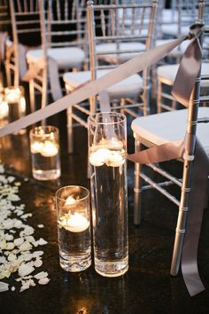 floating candles down the aisle
