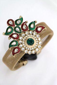 Kundan Mesh Bangle  $15.99