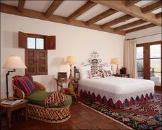 Ann James design - Hacienda - Love the wood trim...