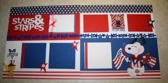 Snoopy Stars & Stripes by Just Kitting