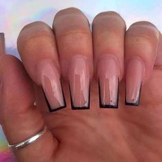 Square Acrylic Nails, Simple Acrylic Nails, Best Acrylic Nails, Aycrlic Nails, Nail Manicure, Nail Swag, Stylish Nails, Trendy Nails, Tapered Square Nails