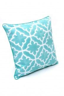 Decorative Pillow Monaco Mint at Roberta Roller Rabbit at 150 Worth Ave #home #decor