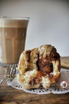 Amaranth Cinnamon Rolls With Coffee Glaze - Sweetest Kitchen #NespressoCreations