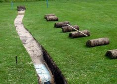 drainage-french drain-how to build-golf turf drenaje-dren frances-como construir-golf