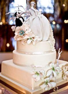 Brides: White Venetian Masquerade Wedding Cake. Having a Ball
