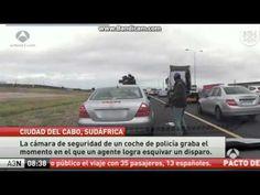 Un hombre dispara a quemarropa a un policía en Sudáfrica que logra esqui...