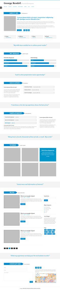 MyCv Muse Theme that is ideal for the self-employed as programmers or designers.  #muse #template #web #design  #myCv