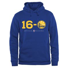 Men's Golden State Warriors Royal 16-0 Pullover Hoodie