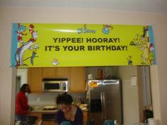 Dr. Seuss Happy Birthday Banner