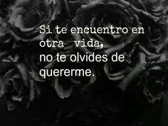 """""""Si te encuentro en otra vida, no te olvides de quererme."""" #love #amor #frasesDeAmor http://www.unpedacitodecielo.com/frases-de-amor/"""