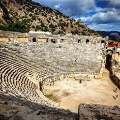 Antic theater in #Myra #Demre #Antalya #Turkey