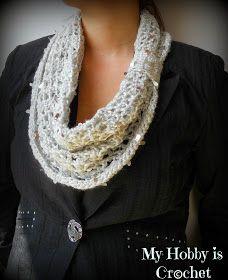 My Hobby Is Crochet: Swanky Glam Cowl - Free Crochet Pattern: Written Instructions and Chart