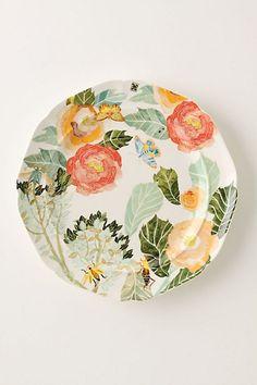 Anthropologie Watercolor Petals Dinnerware... Color me obsessed.