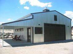 Steel buildings on pinterest metal buildings metal shop for Metal shop with apartment