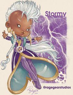 11 X-Men Mutants Reimagined as Rainbow Brite Color Kids
