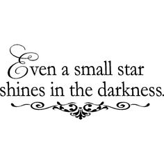 Inspirational Wall Quote Small Star found on Polyvore