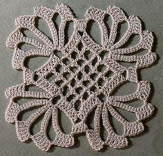 Crochet News 2 Crochet Coaster Pattern, Crochet Motif Patterns, Crochet Blocks, Crochet Diagram, Crochet Squares, Crochet Tablecloth, Crochet Doilies, Crochet Flowers, Thread Crochet
